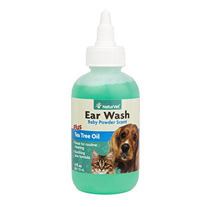 NaturVet Ear Wash with Tea Tree Oil , 4 Ounce