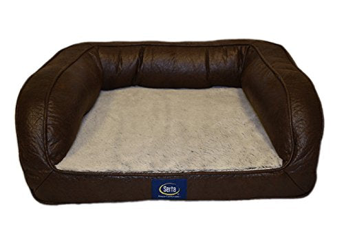 Orthopedic Leather Couch Pet Bed