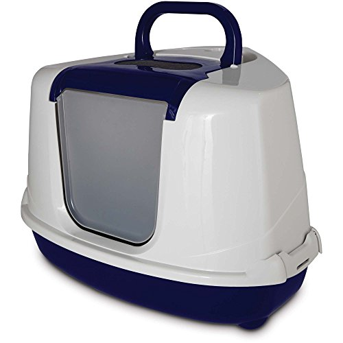 Corner Privacy Hood & Cat Litter Pan by So Phresh, Reduces Odors