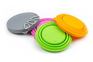 Big Set of 3 Silicone Collapsible Pet Bowls