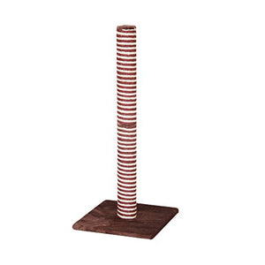 PetPals Minimal Burgundy and Sisal Scratching Post
