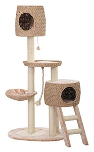 PetPals Multi-Level Paper Rope Cat House Tree