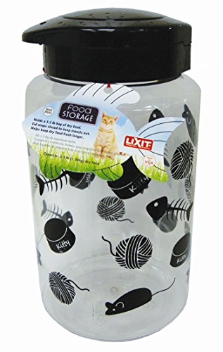 Cat Food Storage Jar by Lixit Animal Care