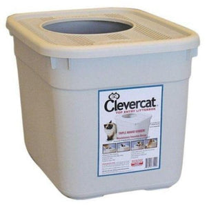 "Top Entry Litter Box by Clevercat, 9"" diameter hole"