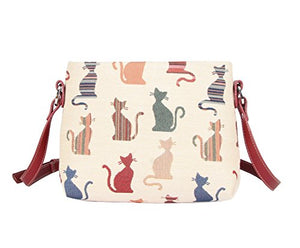 Bag in Cheeky Cat Design by Signare, Weight: 0.25kg