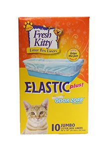 Fresh Kitty 10 Count Elastic Draw-Top Liners