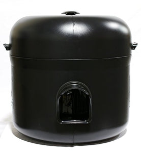 Outdoor Insulated Black Cat House, 24 x 24 x 23 inches