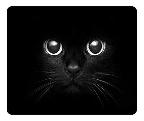 Black Cat with Charming Eyes Print Personalized Custom Mousepad