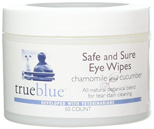 TrueBlue Safe and Sure Eye Wipes, Chamomile and Cucumber