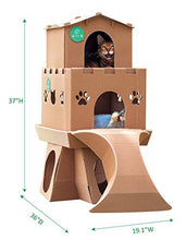 3 Part Playground Cardboard Cat House