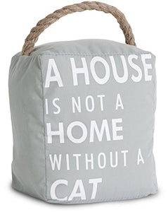 "Cat Door Stopper: ""A House is not a Home without a Cat"""
