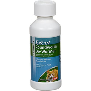 Excel De-Wormer, Effectively Roundworms in Cats