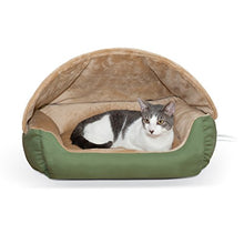 Thermo-Hooded Heated Cat Bed