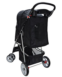 Vivo Black Stroller for Cats and Dogs