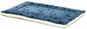 Reversible Pet Bed in Blue and White
