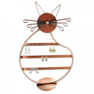 Cat Shape Earring Holder Stand Holds over 56 pairs of Earring