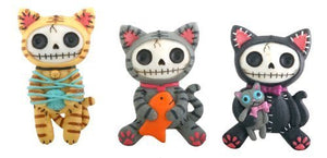 Mao-Mao Magnets Set of 6 Cat Furry Bones