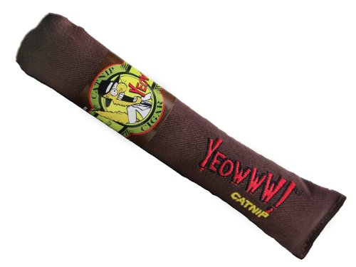 Yeowww Brown Cigar Catnip Toy