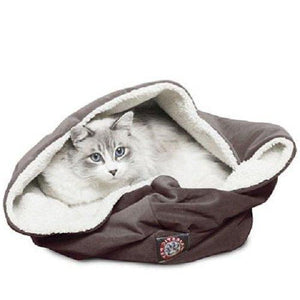Sherpa Fabric Suede Cat Bed