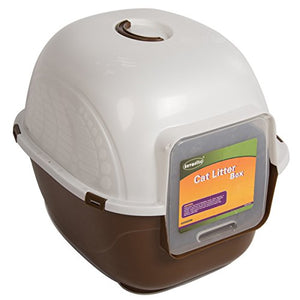 Portable Side Enter Cat Litter Box by Favorite, Brown, XL
