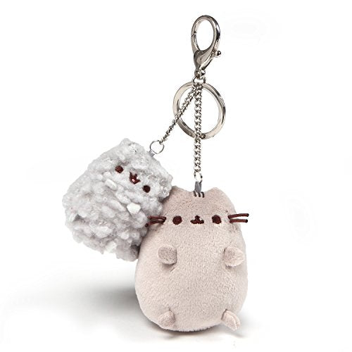 Gund Pusheen and Stormy Cat Keychain with Sturdy Metal Clip