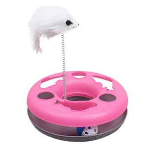 Interactive Ball Spring Feather Cat Toy