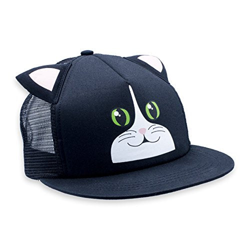 Black & White Cat Critter Cap by Comfy