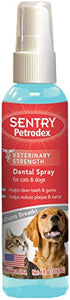 Sentry Petrodex Dental Spray for Pets, Helps Reduce Plaque & Tartar