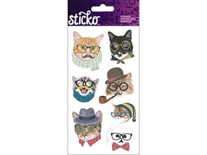 Sticko Intellectual Cats Stickers
