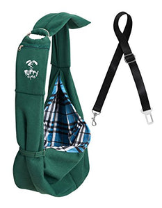 Pet Green Carrier Sling Bag by Puppy Eyes