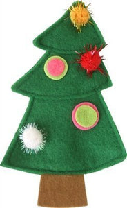 Christmas Tree Refillable Organic Catnip Toy