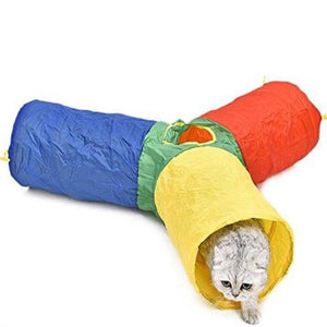 Foldable and Colorful Cat Tube Tunnel