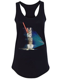 Hologram Battle Cat Women's Tank Top, Black