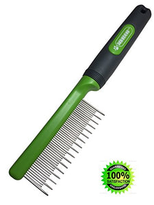 Stainless Steel Cat Shedding Comb, 17-Long & 32-Short Stainless Steel Teeth