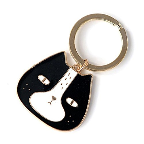 Black Cat Design Pendant Keychain, Material: Alloy