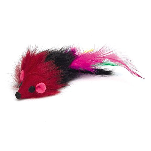 Two-Tone Feathered Mice Cat Toy