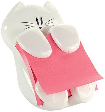 Post-it Cat Character White Pop-up Note Dispenser