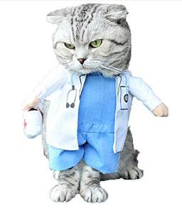 Cat Doctor Costume, White