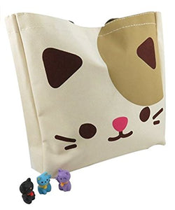 Cute Kitty Tote Bag Purse (10.75 x 10.5 inches)