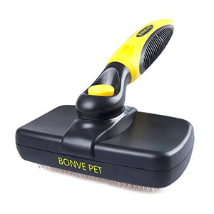 Bonve Pet Grooming Brush with Self Cleaning Slicker