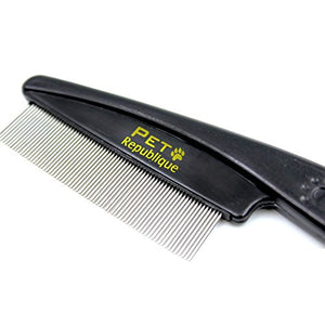 Cat Flea Comb by Pet Republique, Made from Flexible Pins