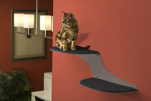 Cloud Cat Shelf in Titanium