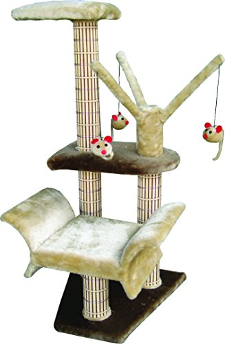Penn Plax Cat Tree with Dangling Mouse Toys