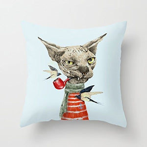 Sphynx Cat design pillow case, Soft Polyester