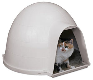 White Igloo Cat Condo House
