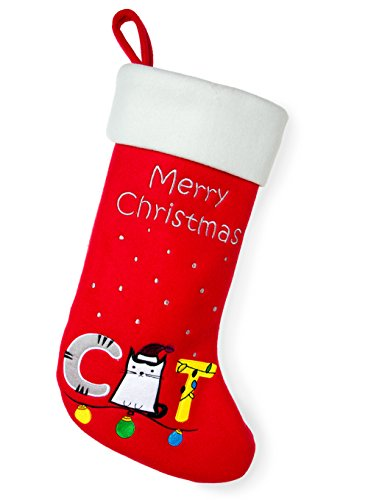 Red Bene Decorative Christmas Stockings Cat, 18