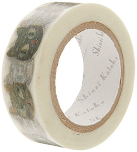 Shinzi Katoh Washi Cat Masking Tape, 15mm W, 10m L