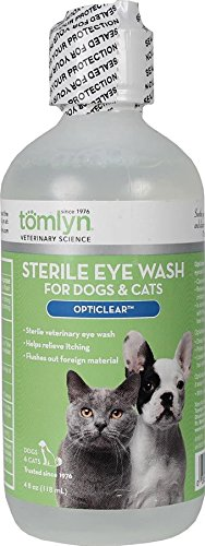Tomlyn Sterile Eye Wash for Dogs and Cats, A soothing Isotonic-buffered