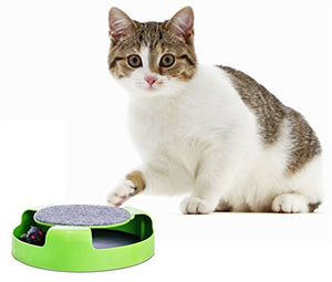 360 degree rotation Mouse And Cat Scratching Pad