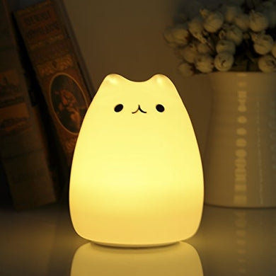 Cat Shaped Night Light with Two Light Modes